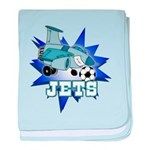 Jets Soccer Infant Blanket