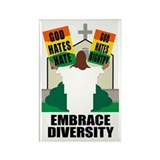 GOD HATES HATE Rectangle Magnet