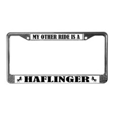 My Other Ride is a Halflinger License Plate Frame