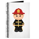 Funny Whimsical firemen Journal