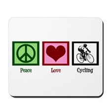Peace Love Cycling Mousepad