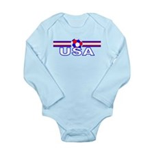 USA Horizon design Long Sleeve Infant Bodysuit
