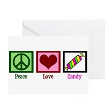 Peace Love Candy Greeting Cards (Pk of 20)