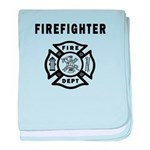 Firefighter baby blanket