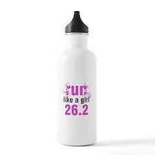 Run like a girl 26.2 Water Bottle