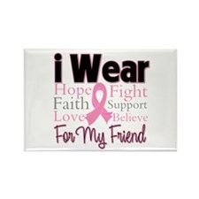 Friend - Breast Cancer Rectangle Magnet (10 pack)