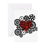 Steampunk Heart Greeting Card