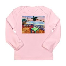 Funny Sea side Long Sleeve Infant T-Shirt
