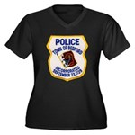 Bedford Mass Police Women's Plus Size V-Neck Dark