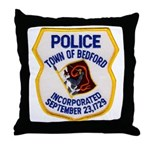 Bedford Mass Police Throw Pillow
