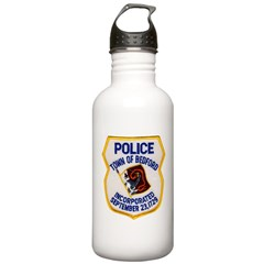 Bedford Mass Police Stainless Water Bottle 1.0L