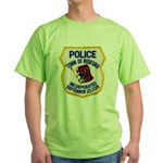 Bedford Mass Police Green T-Shirt