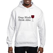 Grape Minds Think Alive Wine Hoodie