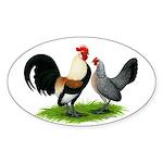 Dutch Cream Light Brown Banta Sticker (Oval)