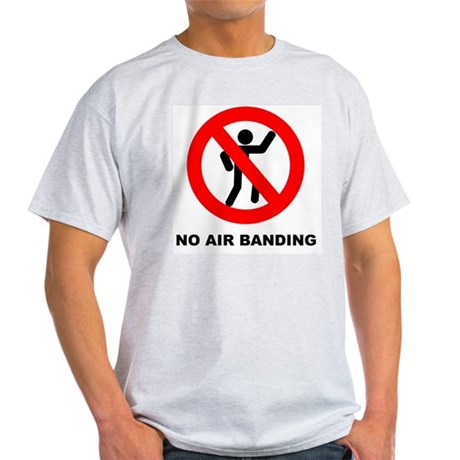 No Air Banding Ash Grey T-Shirt