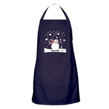 Snowman Snow Day Apron (dark)
