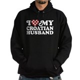 I Love My Croatian Husband Hoodie