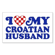 I Love My Croatian Husband Decal