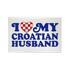 I Love My Croatian Husband Rectangle Magnet
