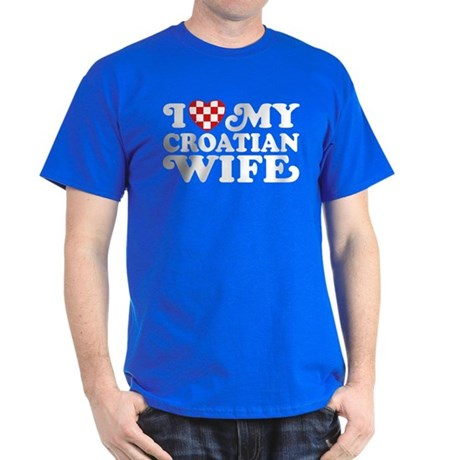 I Love My Croatian Wife Dark T-Shirt