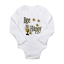 Bee Happy Long Sleeve Infant Bodysuit