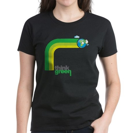 Think Green Earth Rainbow Women's Dark T-Shirt