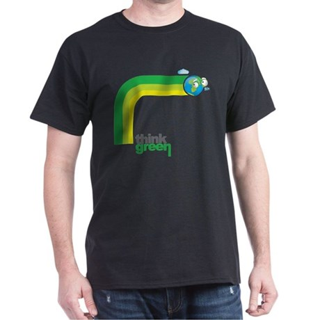 Think Green Earth Rainbow Dark T-Shirt