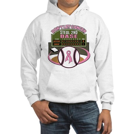 Dont Let Cancer Steal 2nd Base Hooded Sweatshirt