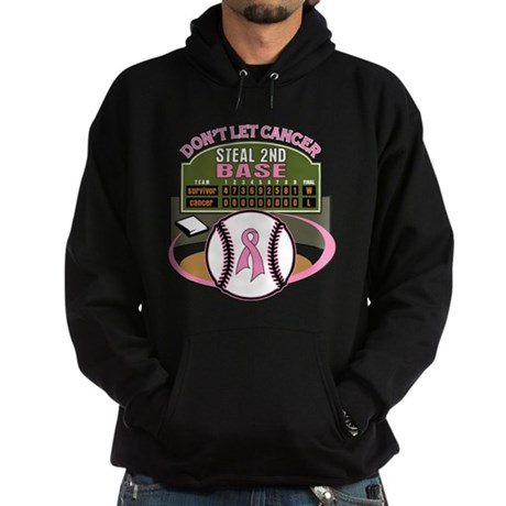 Dont Let Cancer Steal 2nd Base Hoodie (dark)
