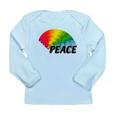 Rainbow Peace Long Sleeve Infant T-Shirt
