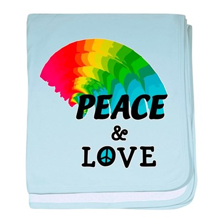 Rainbow Peace and Love Infant Blanket