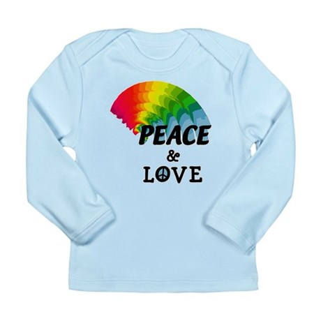 Rainbow Peace and Love Long Sleeve Infant T-Shirt