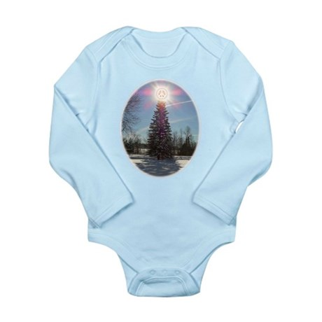 Christmas Peace Long Sleeve Infant Bodysuit