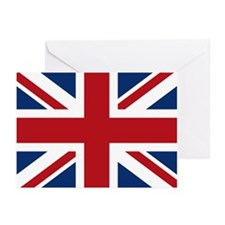 United Kingdom Union Jack Flag Greeting Cards (Pk