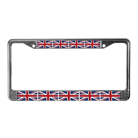 United Kingdom Union Jack Flag License Plate Frame