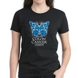 Colon Cancer Butterfly  T
