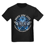 Colon Cancer Tribal Butterfly  T