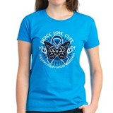 Colon Cancer Tribal Butterfly Tee