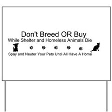 Cute Spay neuter Yard Sign