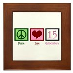 Peace Love Fifteen Framed Tile