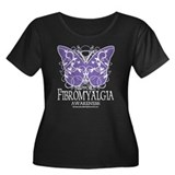 Support Fibromyalgia Butterfl Women's Plus Size Sc