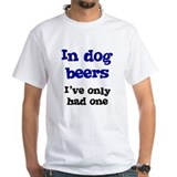 In Dog Beers I've Only Had On Shirt