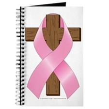 Pink Ribbon and Cross Journal