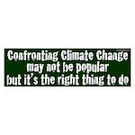 Confronting Climate Change Bumper Sticker