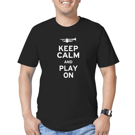 Keep Calm Men's Fitted T-Shirt (dark)