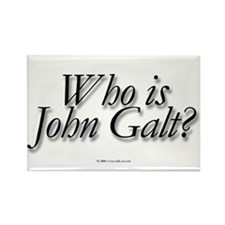 Who is John Galt Rectangle Magnet (10 pack)