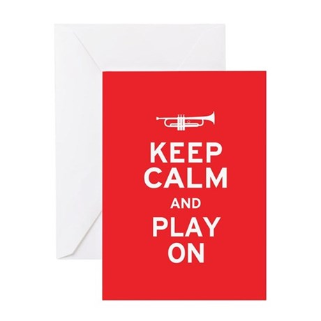 Keep Calm Greeting Card