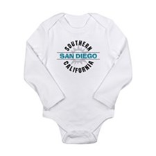 San Diego California Long Sleeve Infant Bodysuit