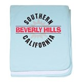 Beverly Hills California baby blanket