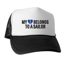 My Heart Belongs To A Sailor Trucker Hat